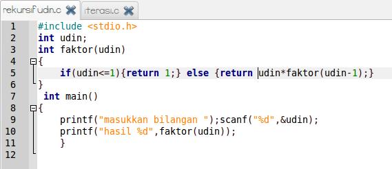 Fungsi rekursif dalam bahasa C