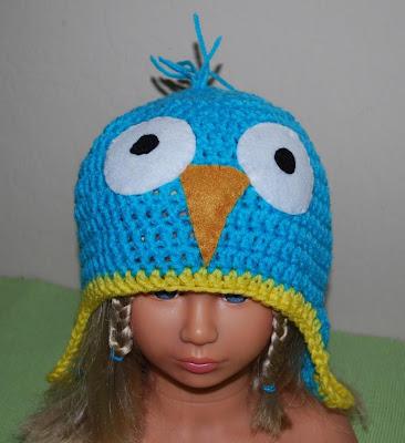 Crochet funny bird