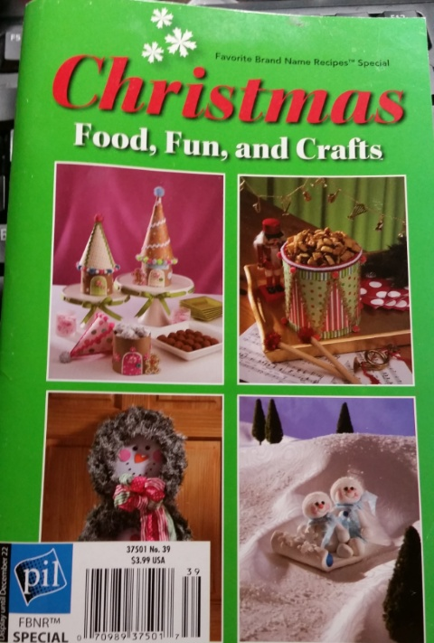 christmas crafts and food cover