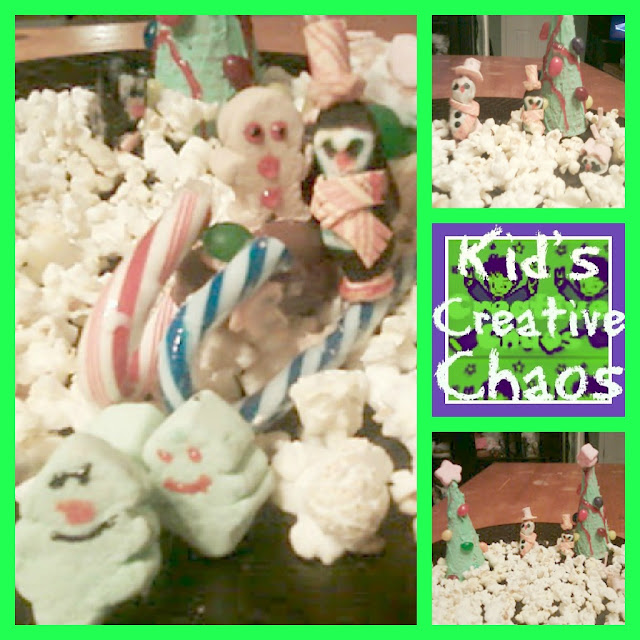 Marshmallow and Waffle Cone Christmas Trees for Gingerbread Scene