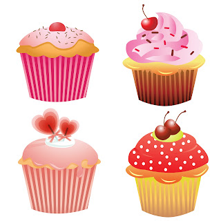 Free 4 Clip Arts Cupcakes