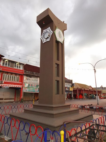 jam bulatan, Gambar sekitar Bandar Sarikei