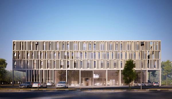 sobre la estructura original de hormign se ha superpuesto un doble para aislar trmicamente el interior y dotar al edificio de una nueva