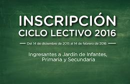 Inscripción 2016