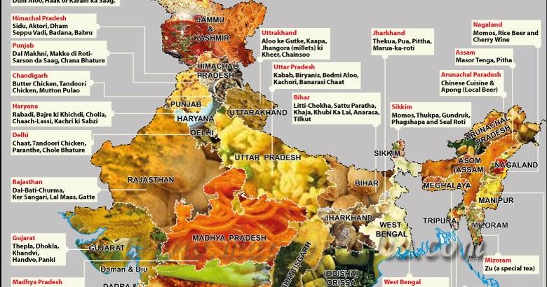 Delhi Food Food Map Of India