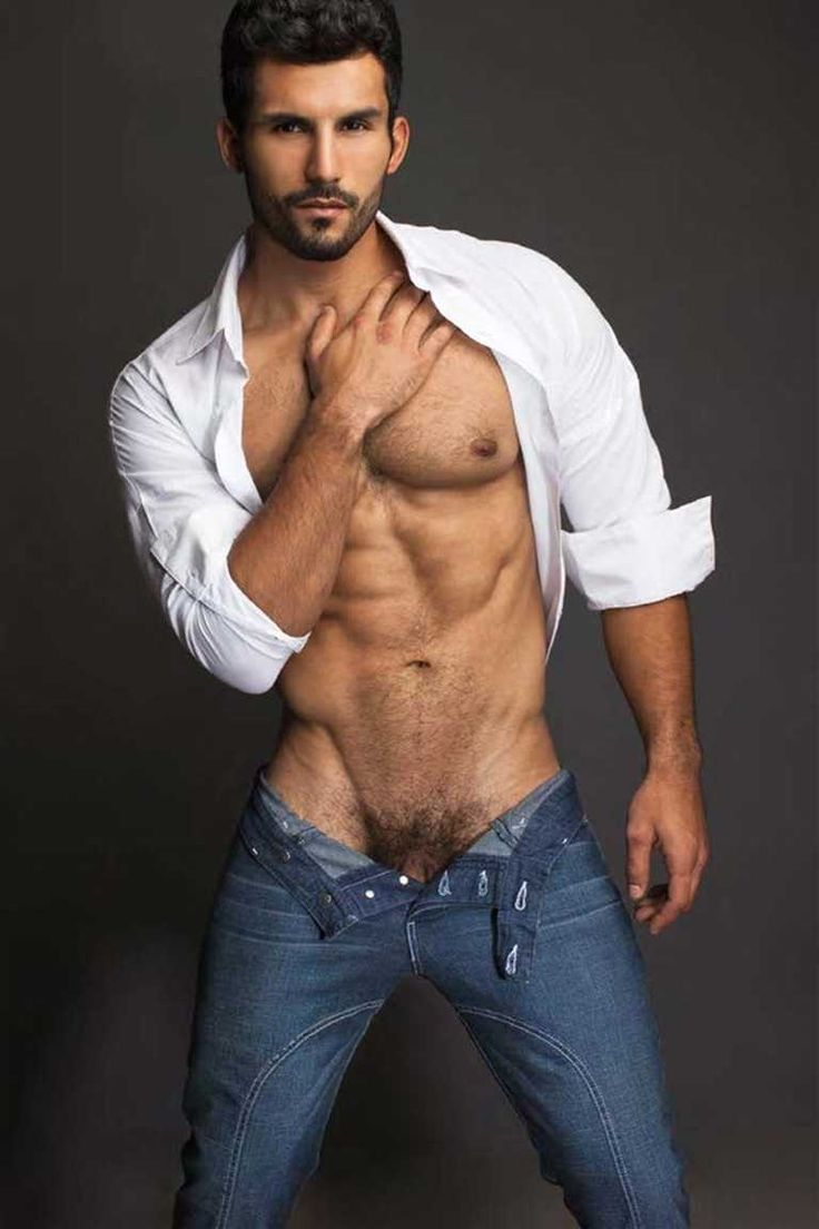 black men in jeans no shirt