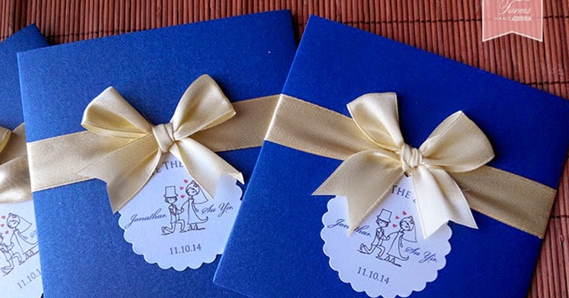 Wedding Gift For Malay Friend : Wedding Card Malaysia Crafty Farms Handmade : Blue and Yellow Themed ...
