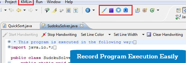 IDE primary toolbar