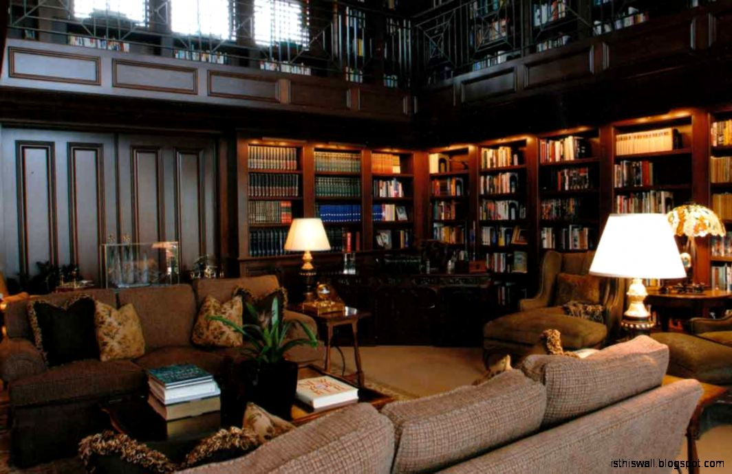 Traditional home library design this wallpapers Traditional home library design ideas