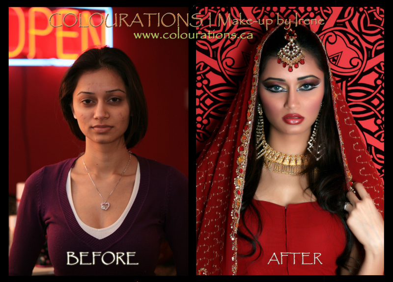 Bridal Makeup Pictures Before And After : indian bridal makeup before and after