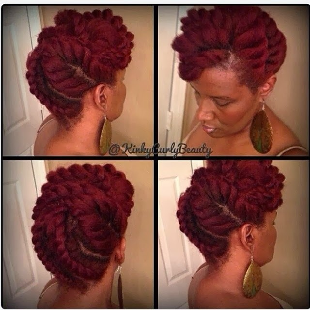 Jumbo Flat Twists Natural Hair Updo