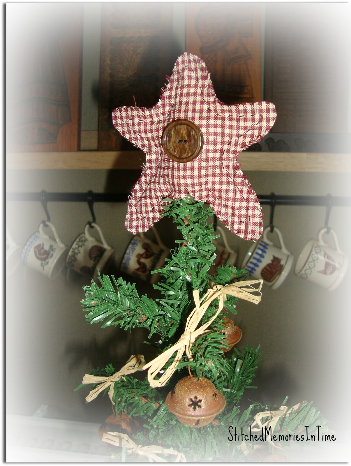 Stitched memories in time a primitive christmas tree