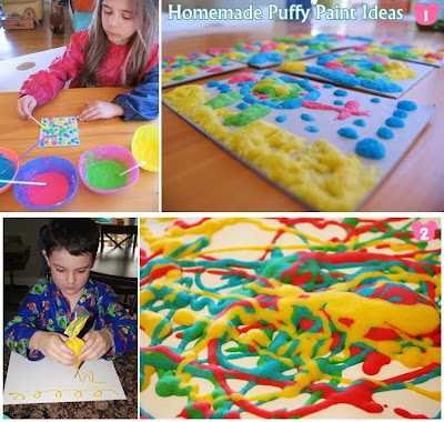 Homemade Puffy Paint Ideas