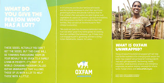 OXFAM UNWRAPPED CARD