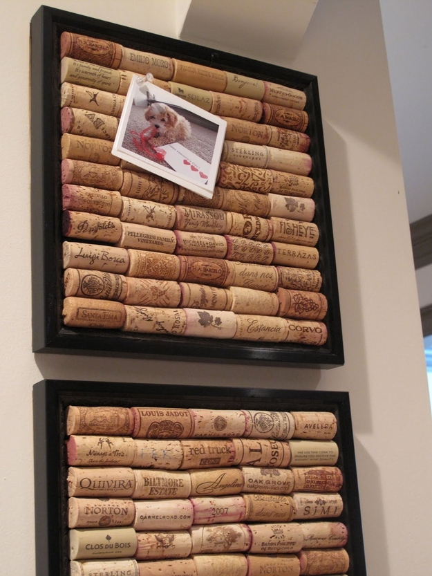 Make a cork bulletin board