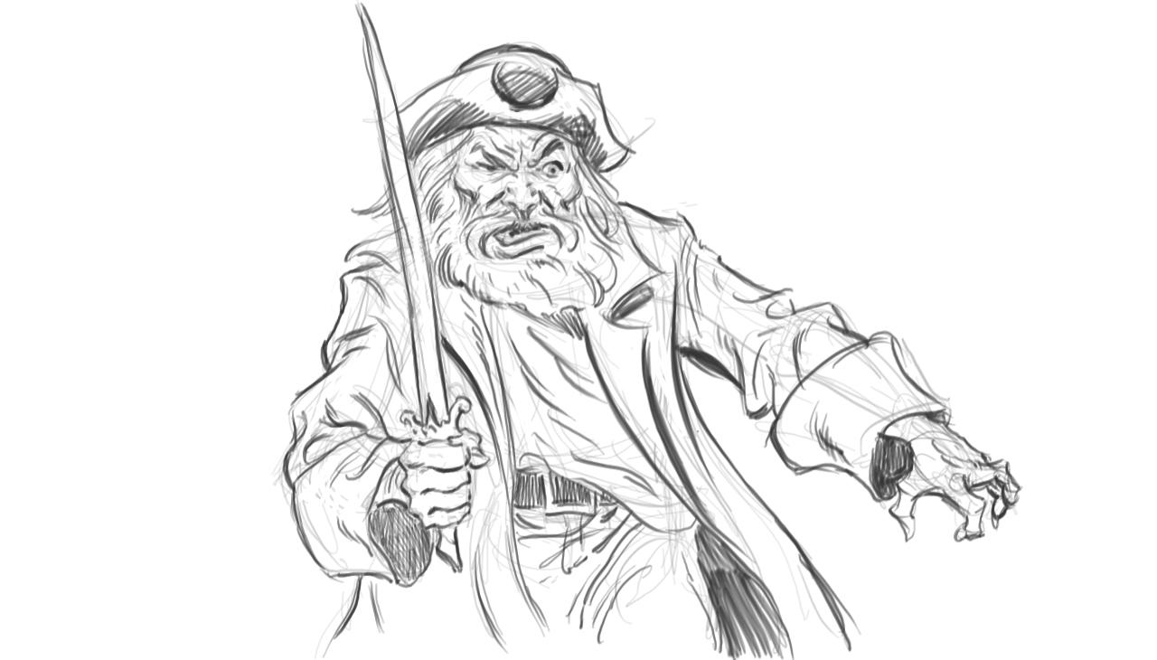 Female pirate drawing - photo#4