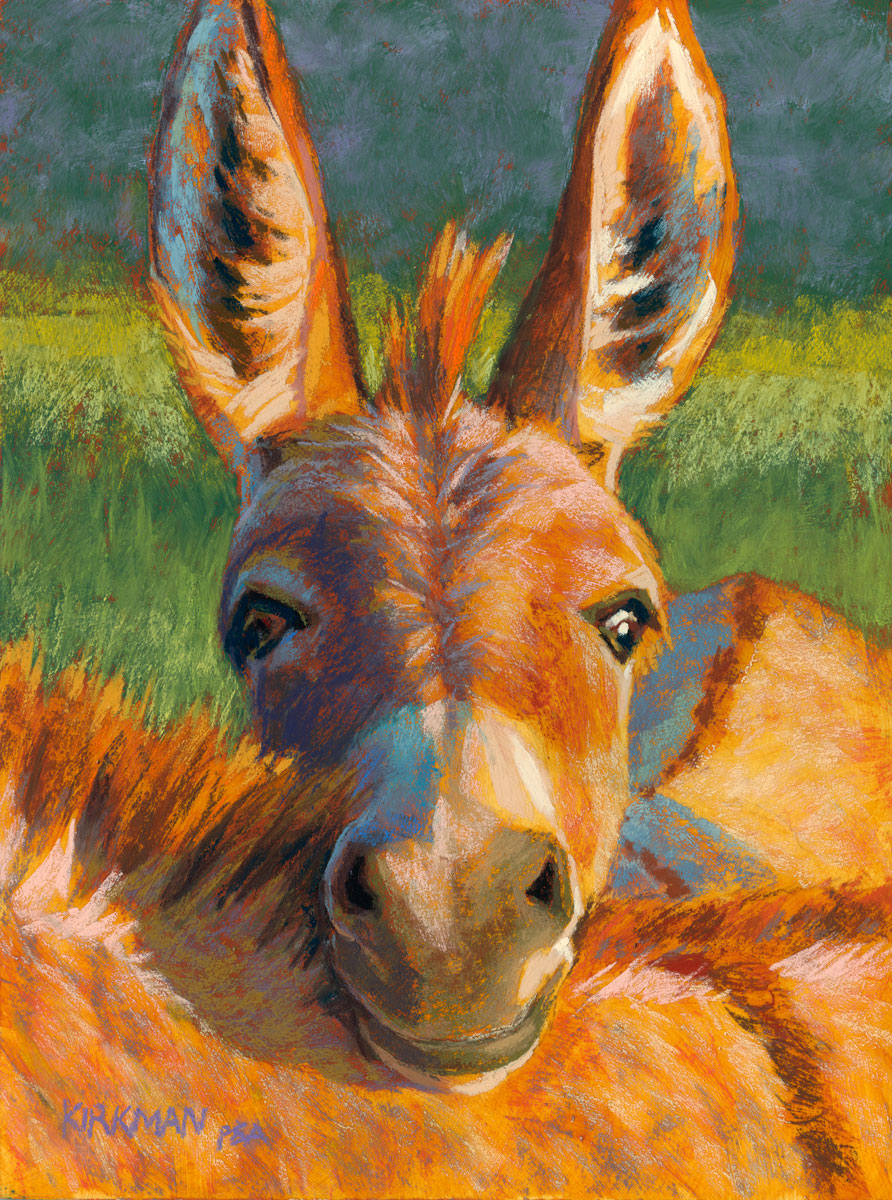 rita kirkman s daily paintings peek a burro peek a burro