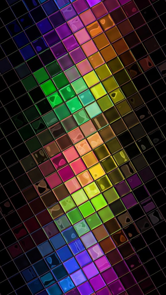 Colorful HD Squares Disco Ball  Galaxy Note HD Wallpaper