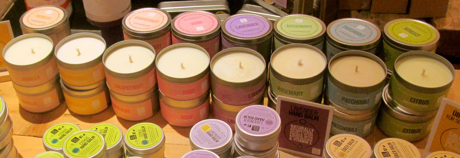 Our Tiny Bees candles in Bird's Yard