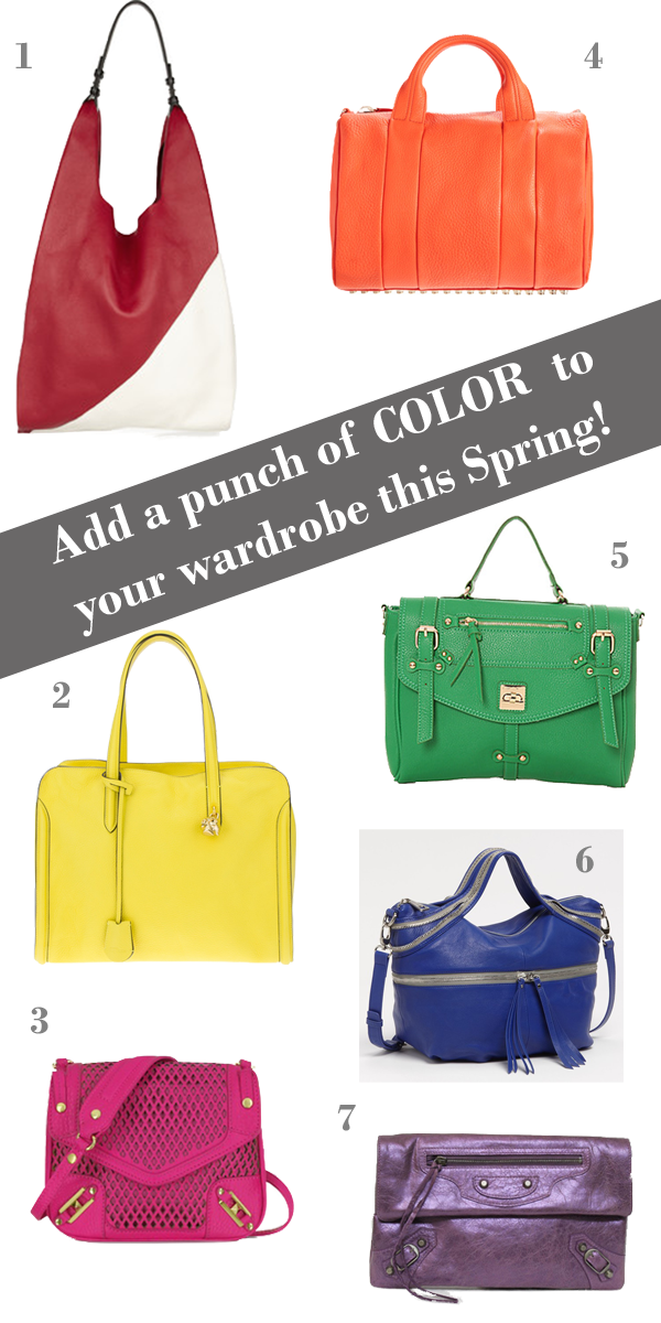 7 Bright Handbags to Brighten Up Your Spring Wardrobe