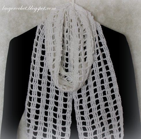 Crochet Pattern For Scarf Easy : Lacy Crochet: Quick and Easy Crochet Scarf, my free pattern
