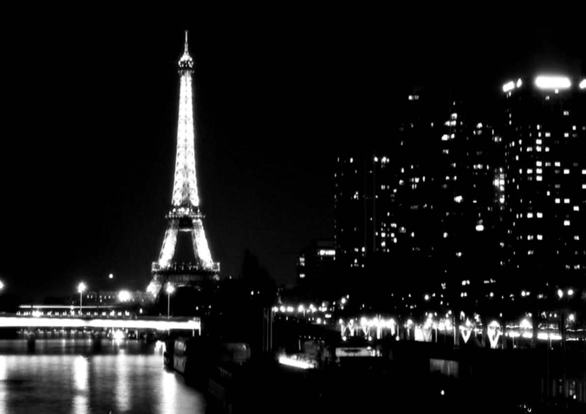 Black And White Paris City Light Picture