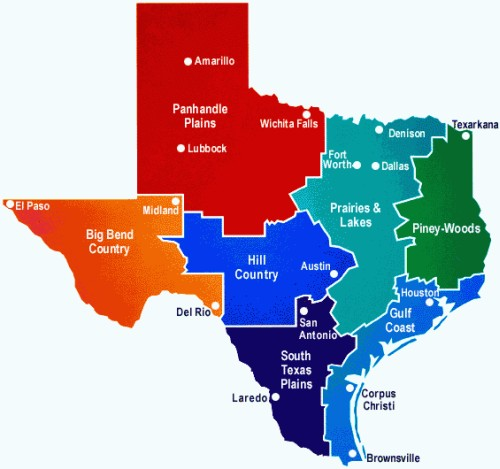 Texas Interactive Map