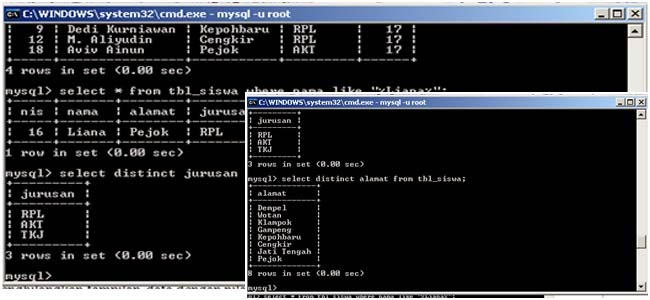 how to connect mysql database in command prompt