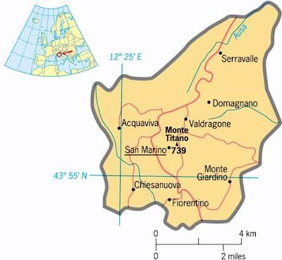 Cartina Politica della San Marino