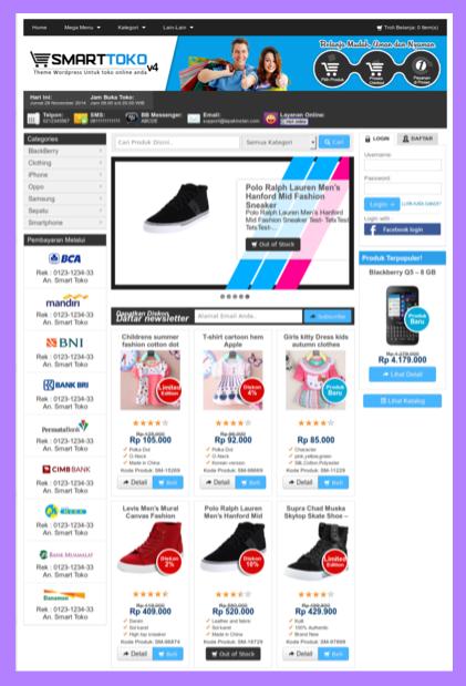 Template toko online terbaru