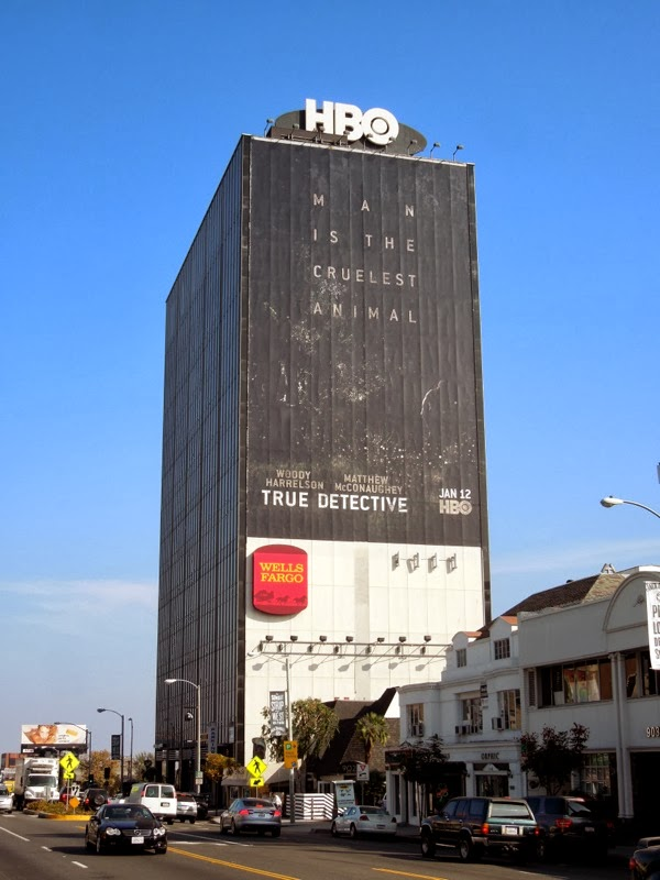 Giant True Detective season 1 billboard Sunset Strip