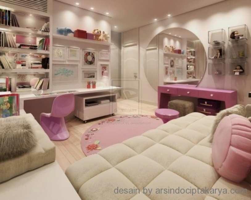 warna cat pink kamar tidur cewek rumah minimalis