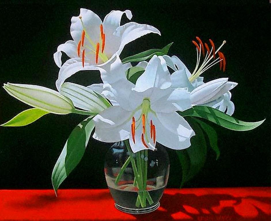 Cuadros pinturas oleos cuadros de flores hiperrealistas - Cuadros de pintura ...