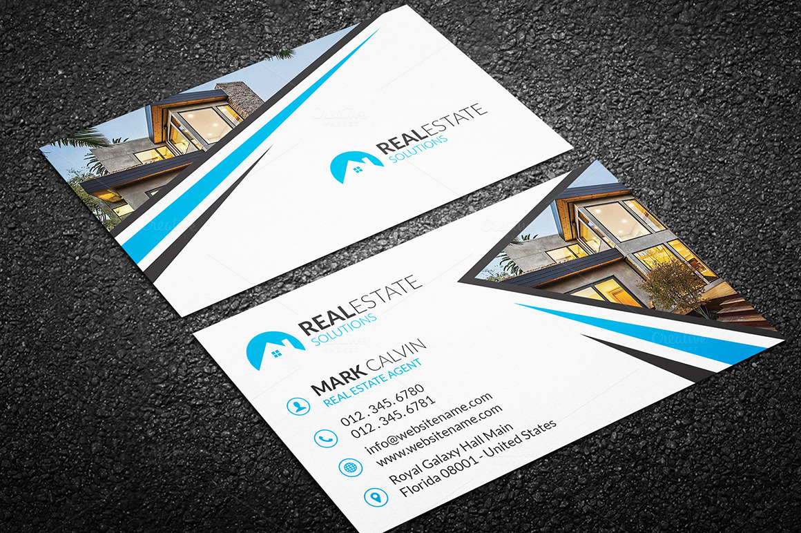 Full Creative Real Estate Design White And Multi Color. Very Creative  Photography Business Cards