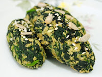 Bolinho Assado de Espinafre com Aveia (vegana)