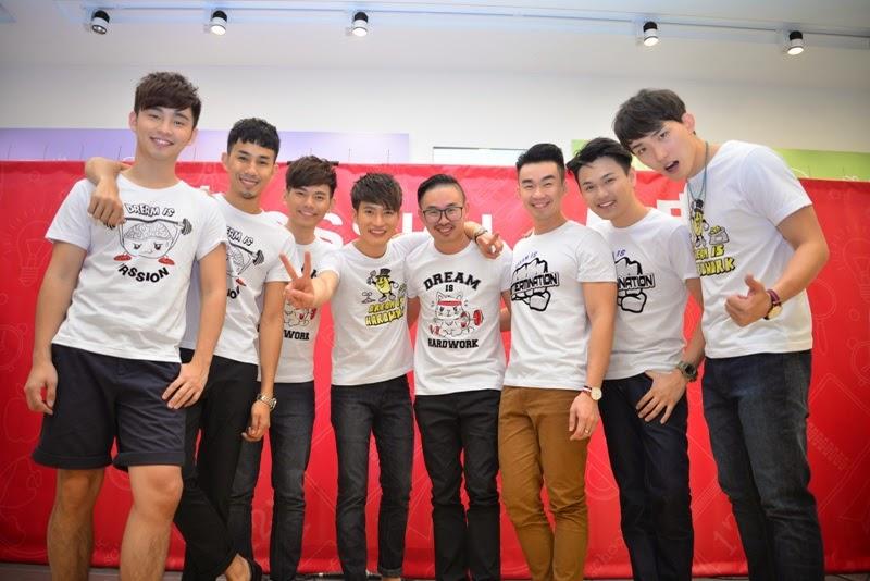 Creativity Platform for Local Pop Idols, Bossini, The Dream Boyz, Fuying & Sam, Teddy Chin, Alvin Chong, Eric Lin, Rayz Lim, Joe Chang