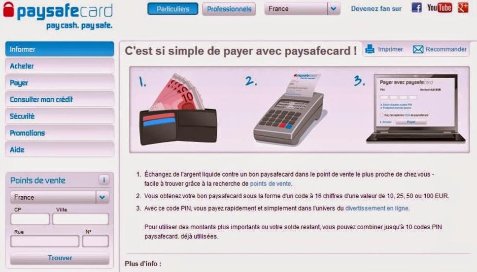 Info paysafecard