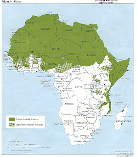 Islam in Africa Map
