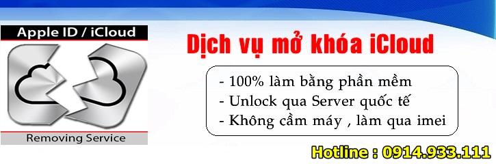 Mở khóa tài khoản iCloud