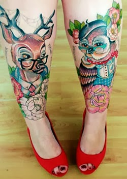 Fotos tatuagens de animais femininas - coruja