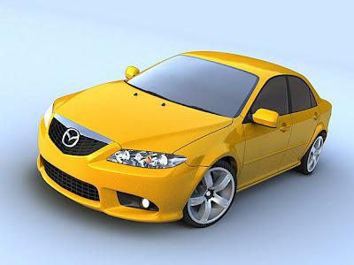 Mazda 6 yellow