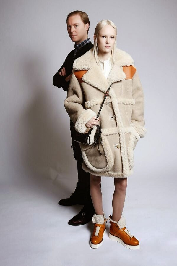Coach 2014 AW by Stuart Vevers Beige Shearling Coat on WWD