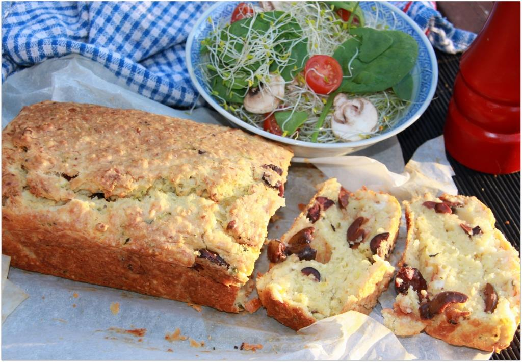Olive Feta and Zucchini Bread