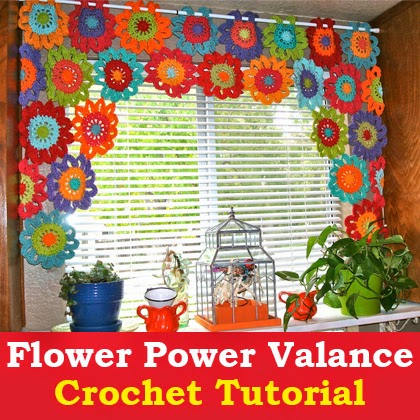 Flower Power Valance Crochet Tutorial