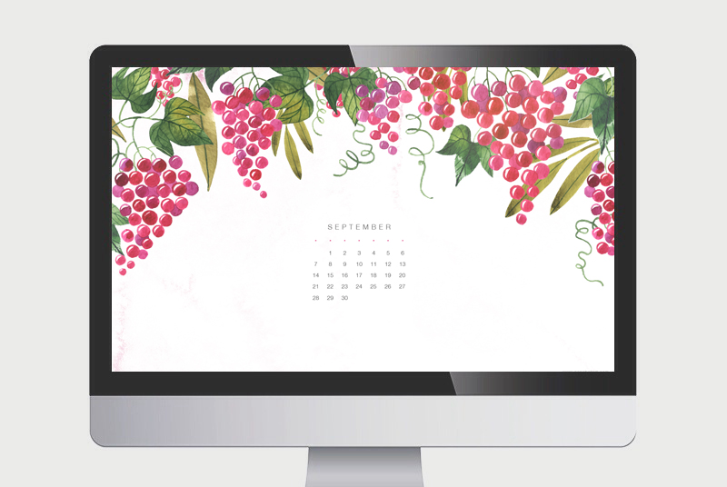 Wallpaper Calendario de Septiembre 2014