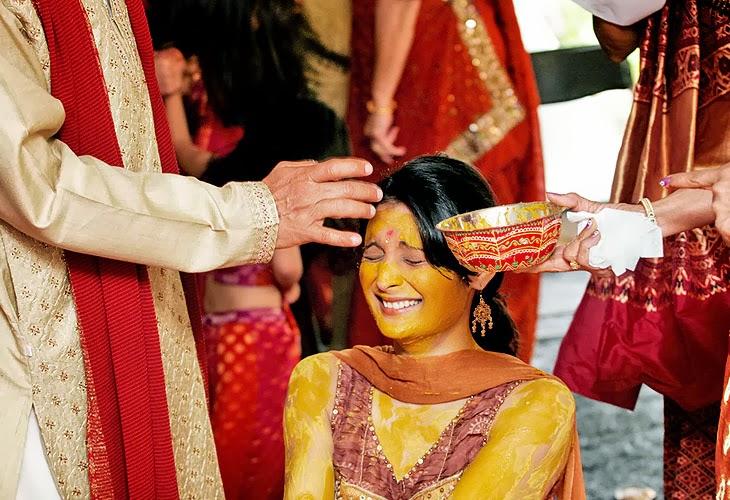 Ubtan of a bride's body