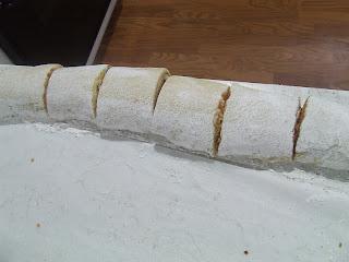 Cutting Cinnamon rolls again