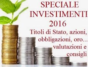Come investire nel 2016