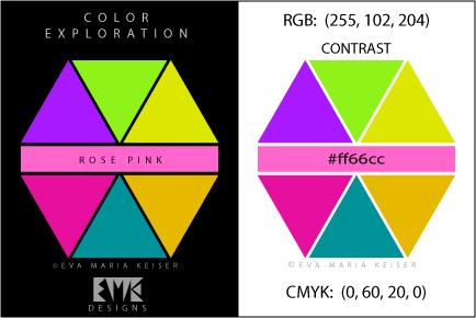 eva maria keiser designs explore color rose pink