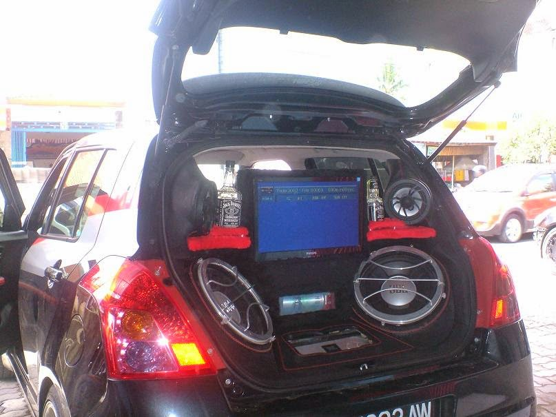 modifikasi audio mobil suzuki swift